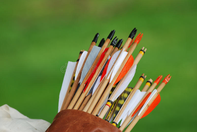 Download Quiver of arrows stock photo. Image of flight, traditional - 24685126