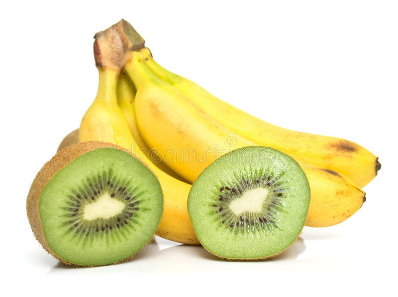 Quivi e banana fotografia de stock