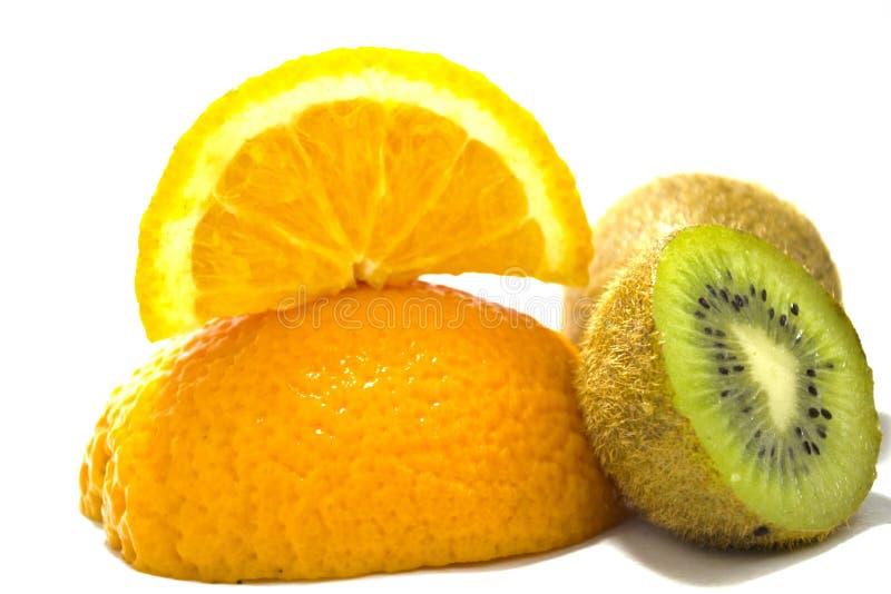 Quivi e laranja fotografia de stock