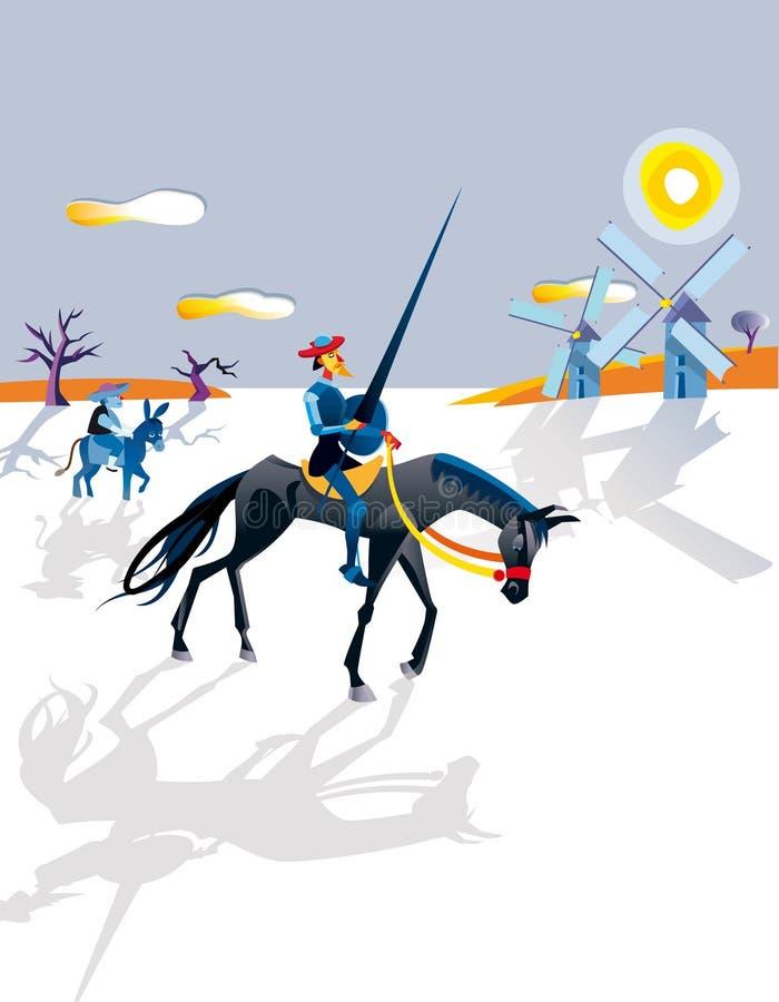 Quixote ilustração stock