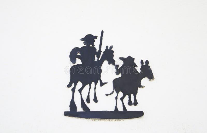 Quixote och Sancho royaltyfri fotografi