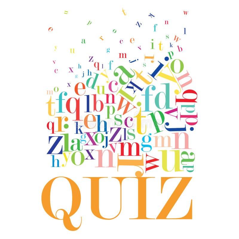Quiz vector illustration