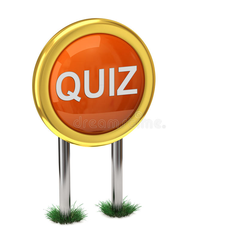 Quiz button royalty free illustration