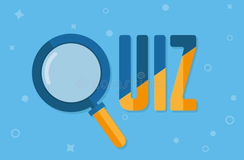 Quiz concept icon. Quiz concept element design vector background royalty free illustration