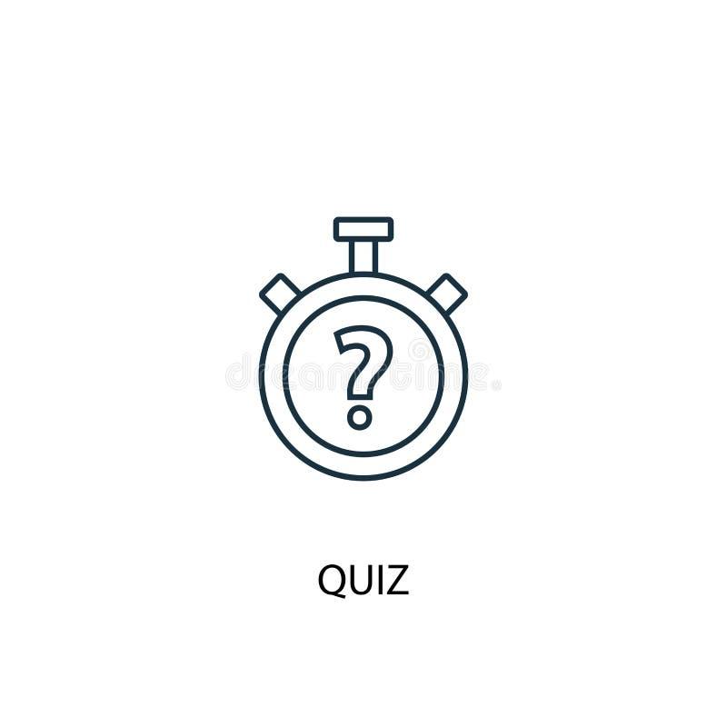 Quiz concept line icon. Simple element vector illustration