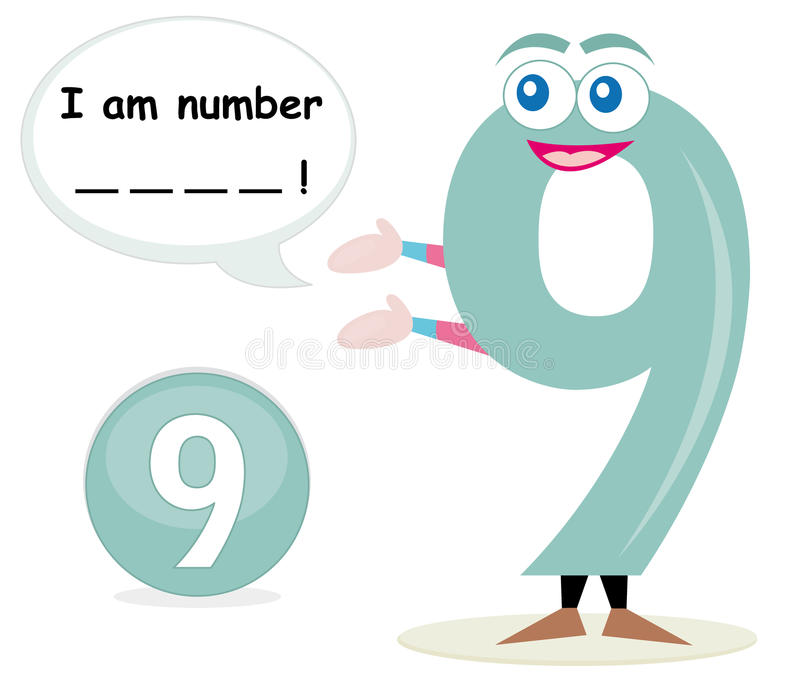 Quiz game with number nine stock image