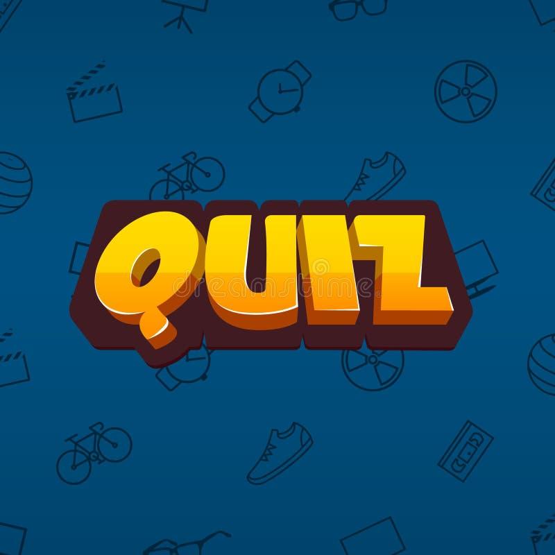 Quiz icon / logo. Art illustration royalty free illustration