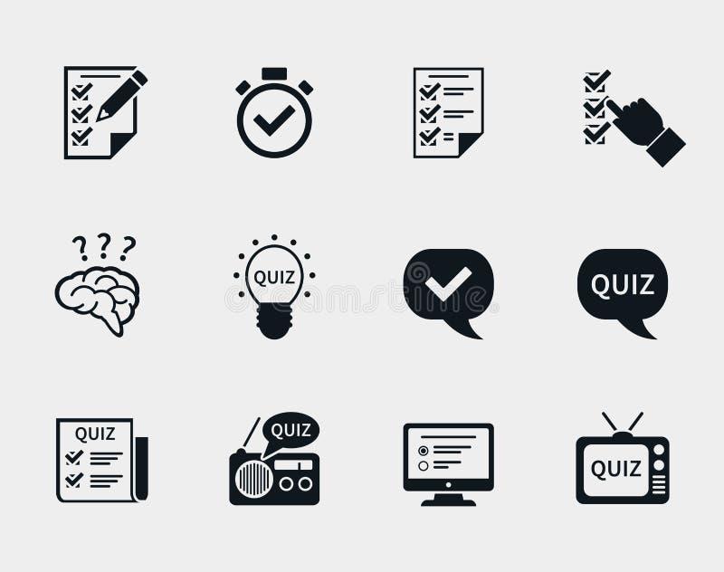 Quiz icon set vector illustration