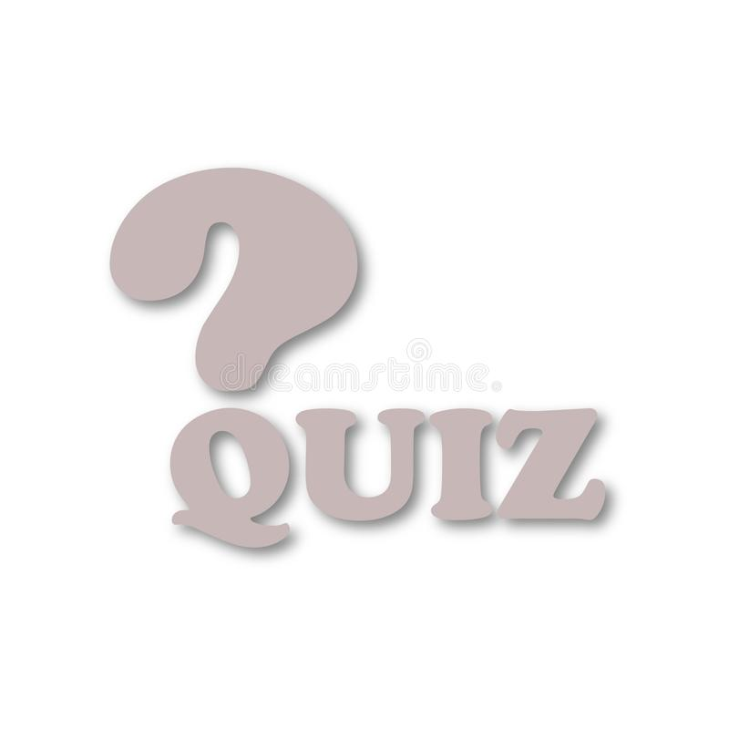 Quiz icon royalty free illustration