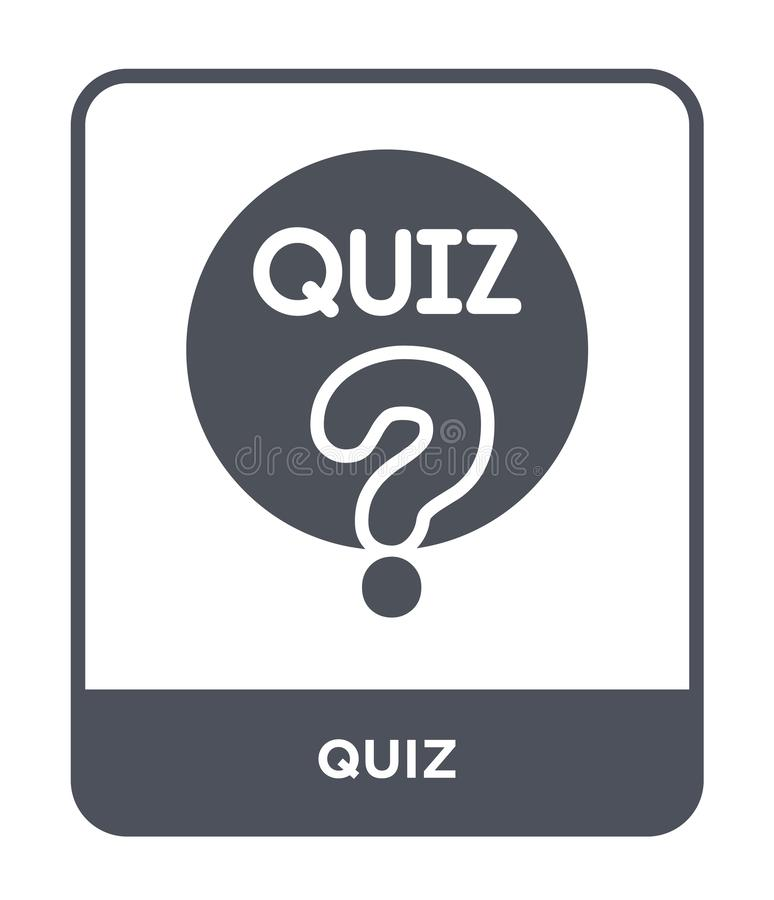 quiz icon in trendy design style. quiz icon isolated on white background. quiz vector icon simple and modern flat symbol for web vector illustration