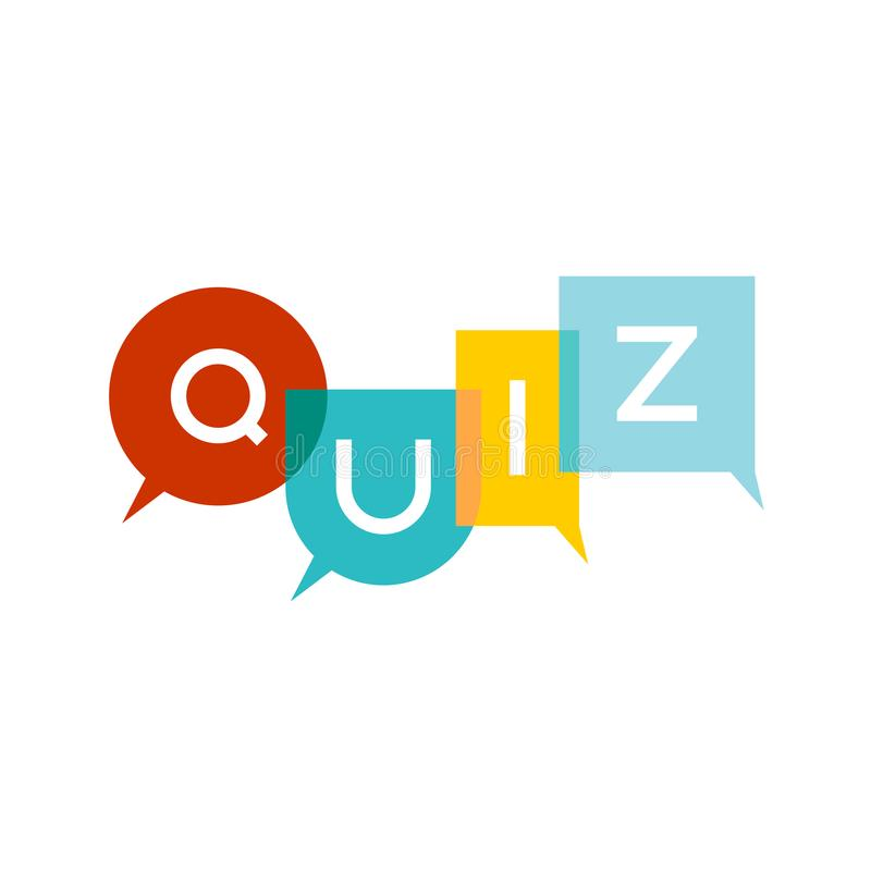 Quiz letters vector illustration