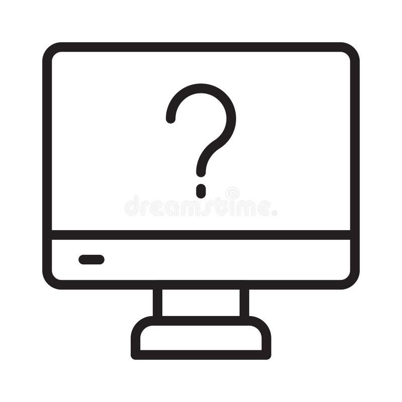 Quiz thin line vector icon vector illustration