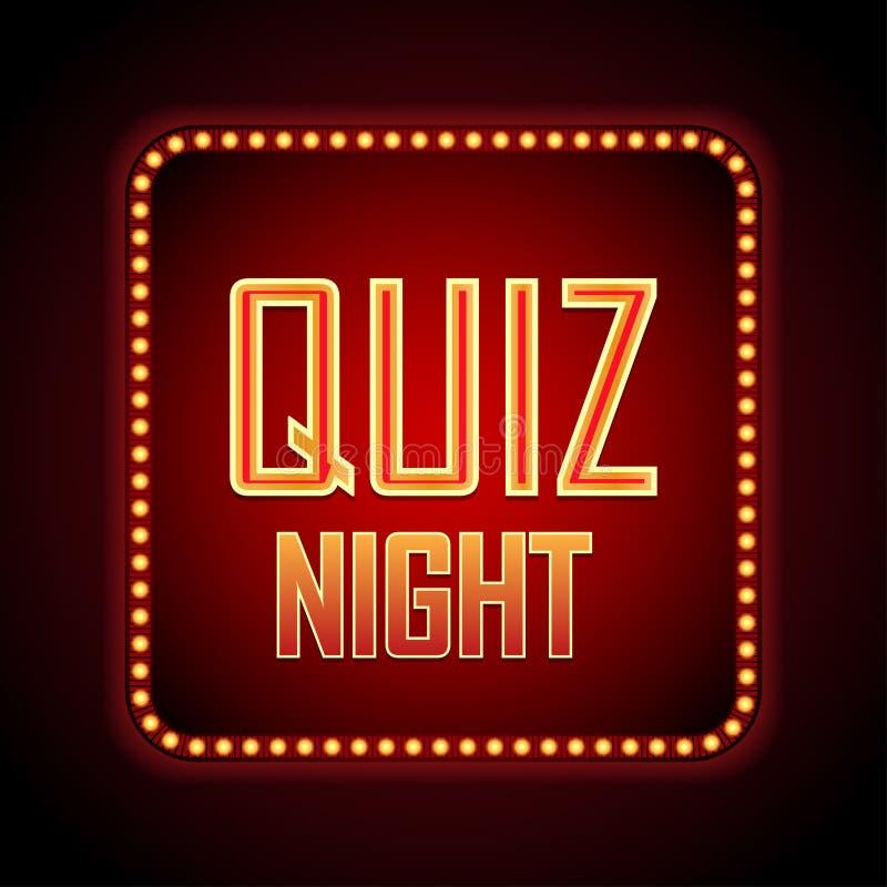 Quiz night announcement poster design web banner background. Vector illustration royalty free illustration
