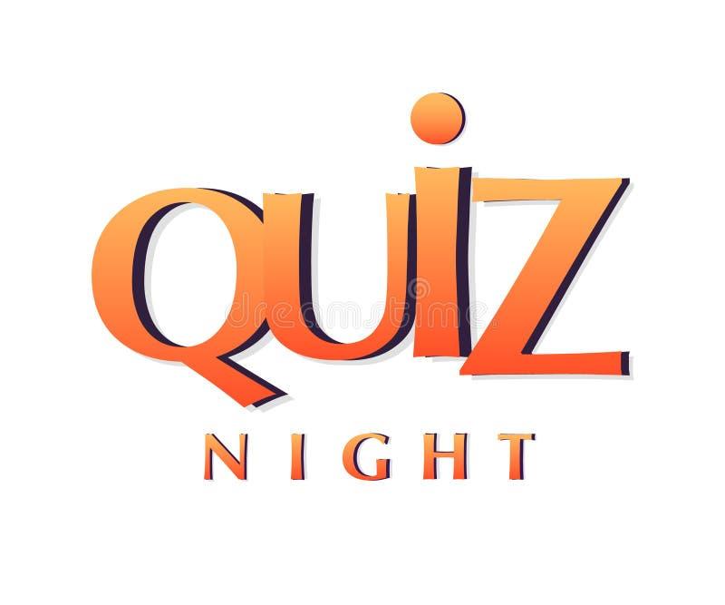 Quiz Night Banner vector illustration