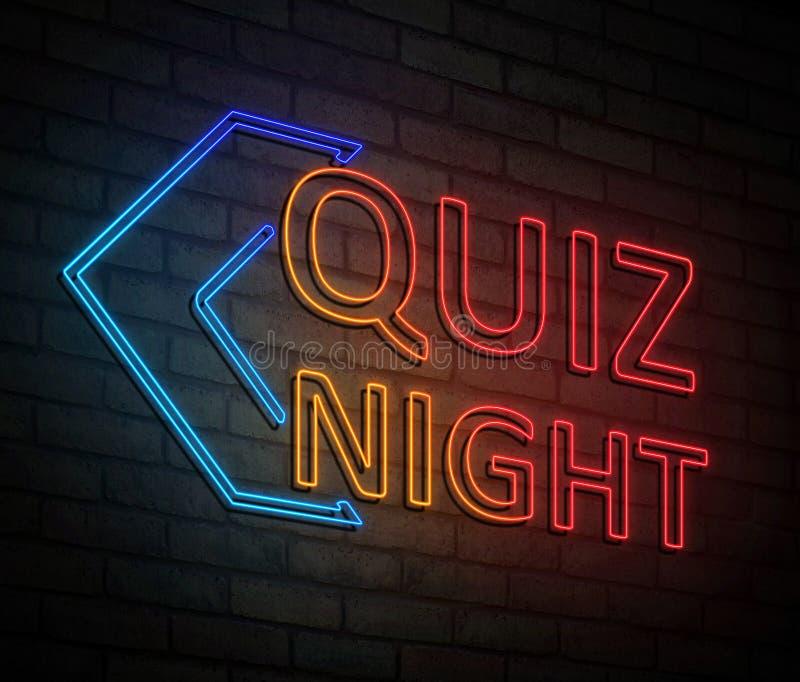 Quiz night concept. vector illustration