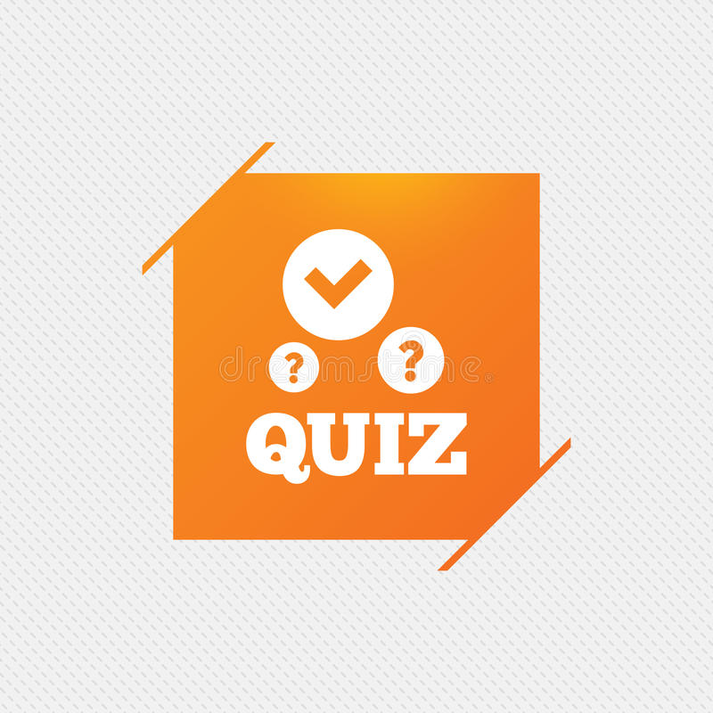 Quiz Sign Icon. Questions And Answers Game. Stock Vector