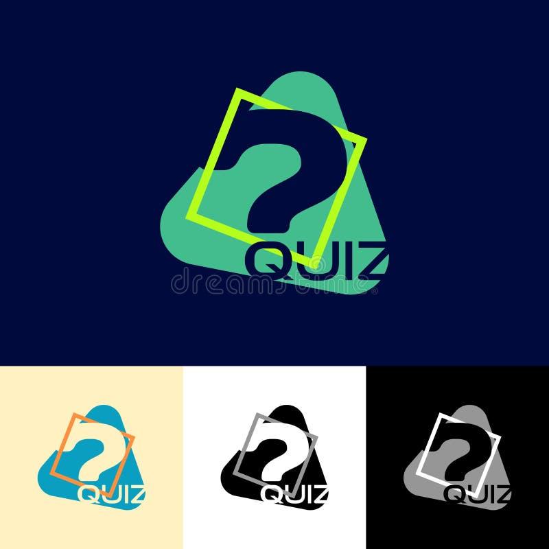 Quiz simple logo stock illustration
