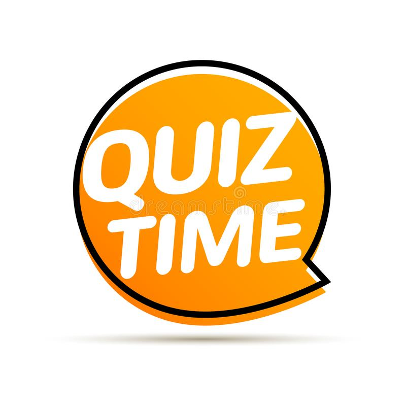 Quiz time icon concept. Vector sign ask game competition stock illustration