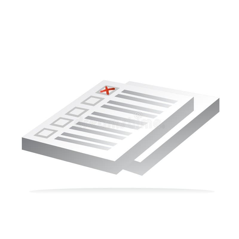 Quiz- und Prüfungsikonenvektor lizenzfreie abbildung