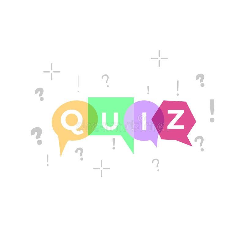 Quiz vector illustration vector illustration