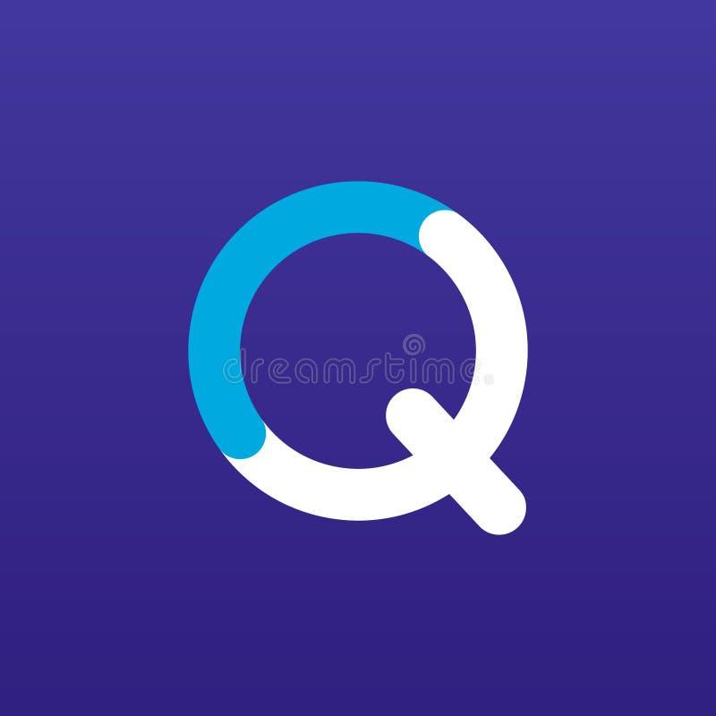 Quizikone/-logo Kunstillustration lizenzfreie abbildung