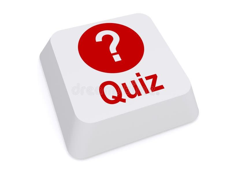 Quizknoop met vraagteken royalty-vrije illustratie