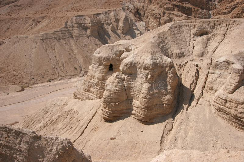 qumran σπηλιών στοκ φωτογραφίες
