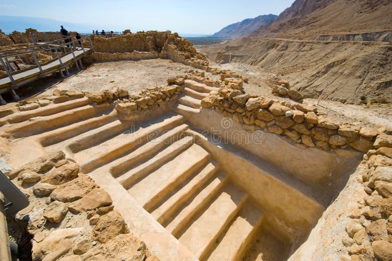 Qumran in Israël royalty-vrije stock foto