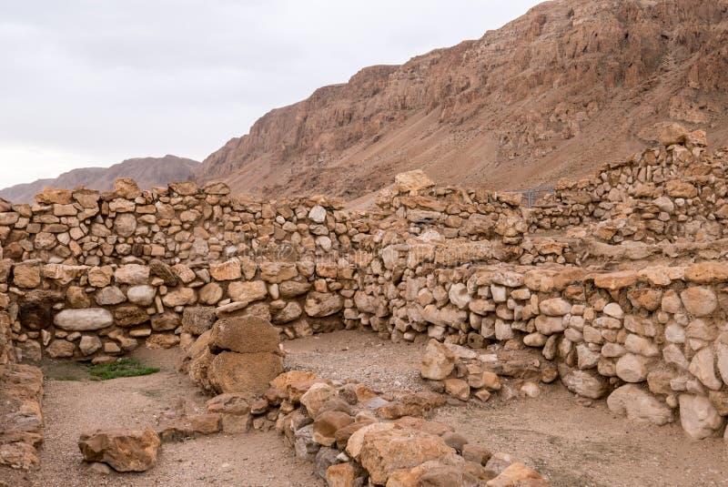 Qumran-Wohnungs-Ruinen stockfotografie