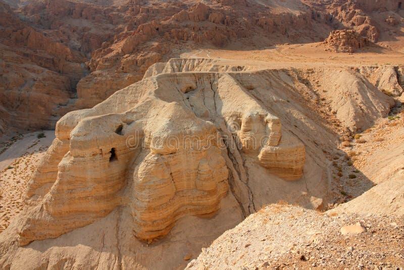 Qumran zawala się - Judejską pustynię zdjęcie royalty free
