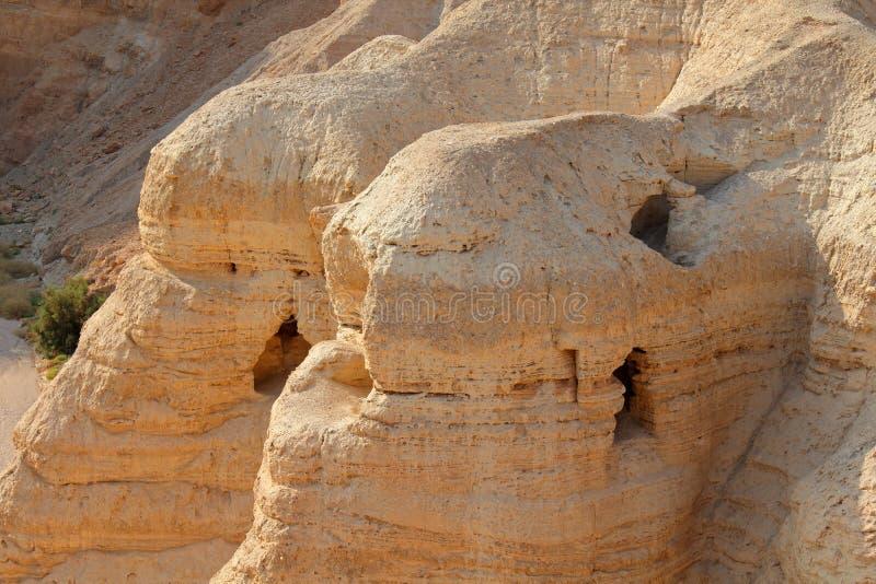 Qumran zawala się - Judejską pustynię obraz royalty free