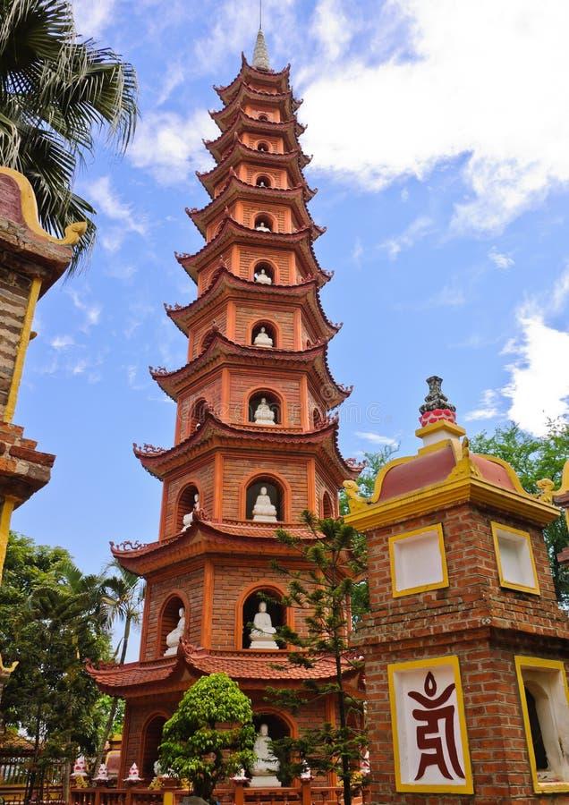 quoc pagodowy tran obrazy stock