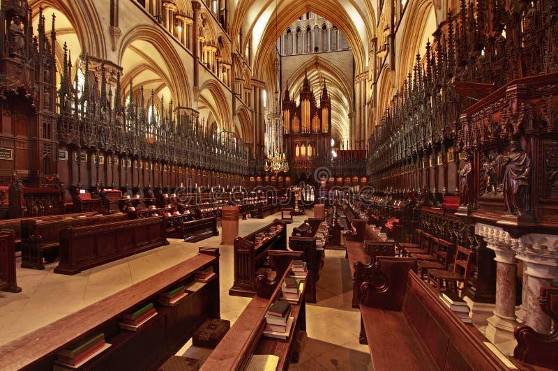 Quoir para Lincoln Cathedral imagem de stock royalty free