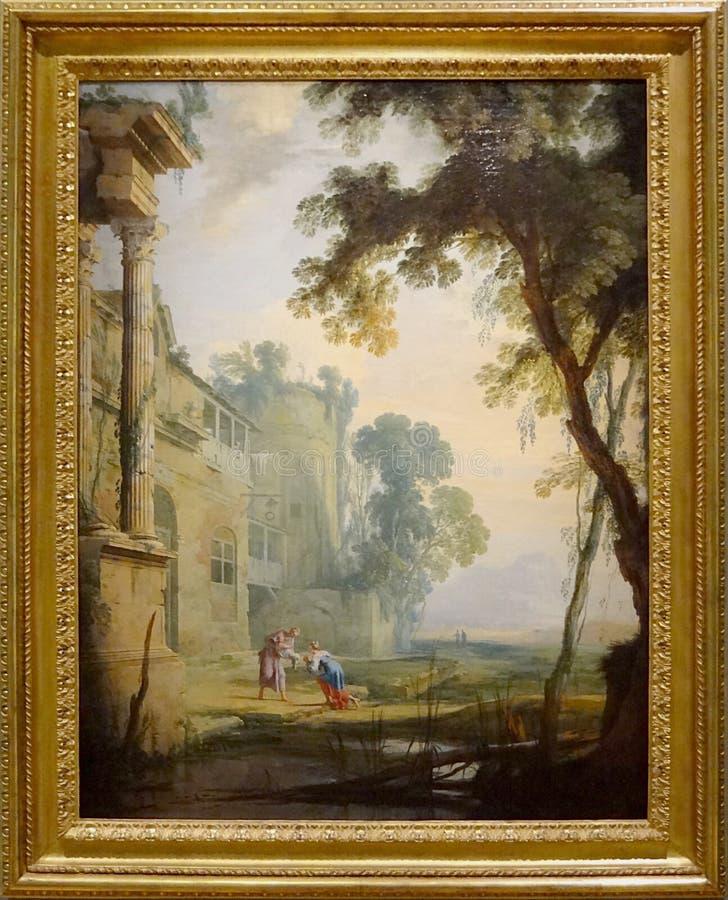 """""""Paysage composé"""", Henri Mauperché. Musée du Petit Palais, Paris. royalty free stock photography"""