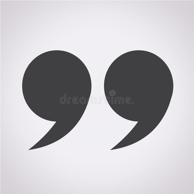 Quotation mark symbol Icon vector illustration