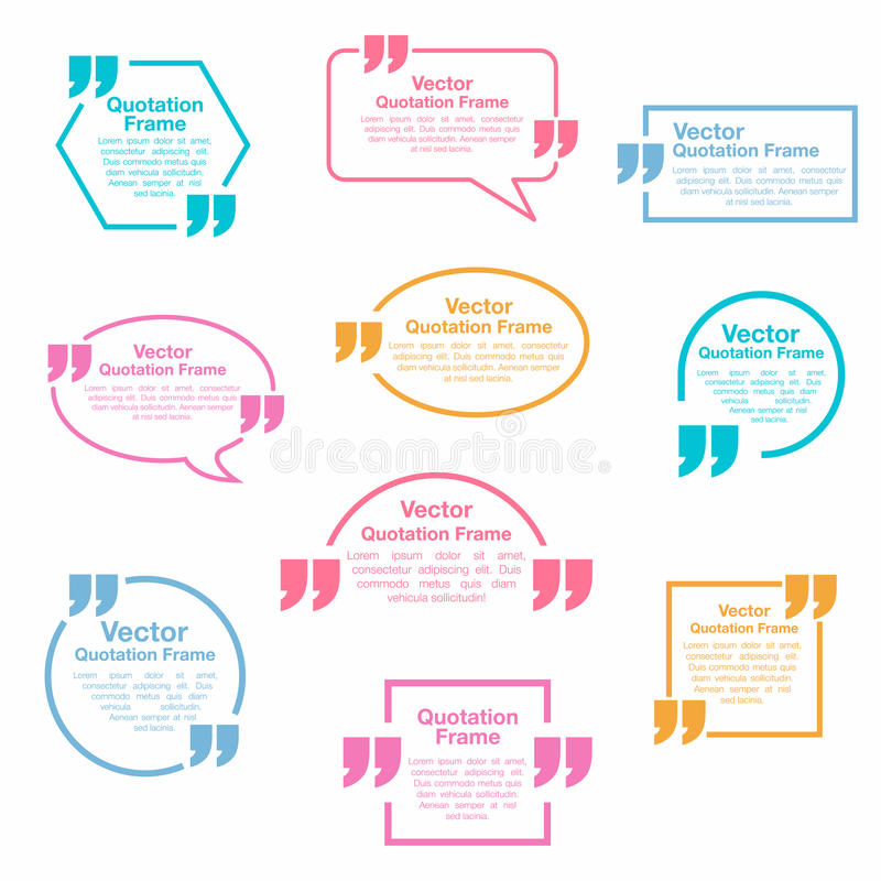Quotation. Quotation speech bubbles set. Testimonial sign. Vector vector illustration