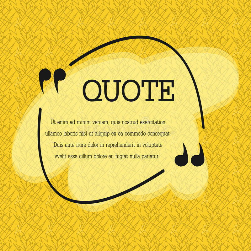 Quote blank template quote bubble empty template circle business circle business card template paper sheet information text print design quote form template vector set yellow poster yellow quote box blank reheart Choice Image