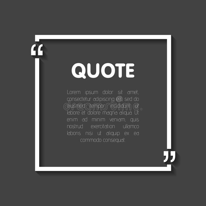 Quote Bubble Blank Templates Empty Business Card Paper Sheet - Business card blank template