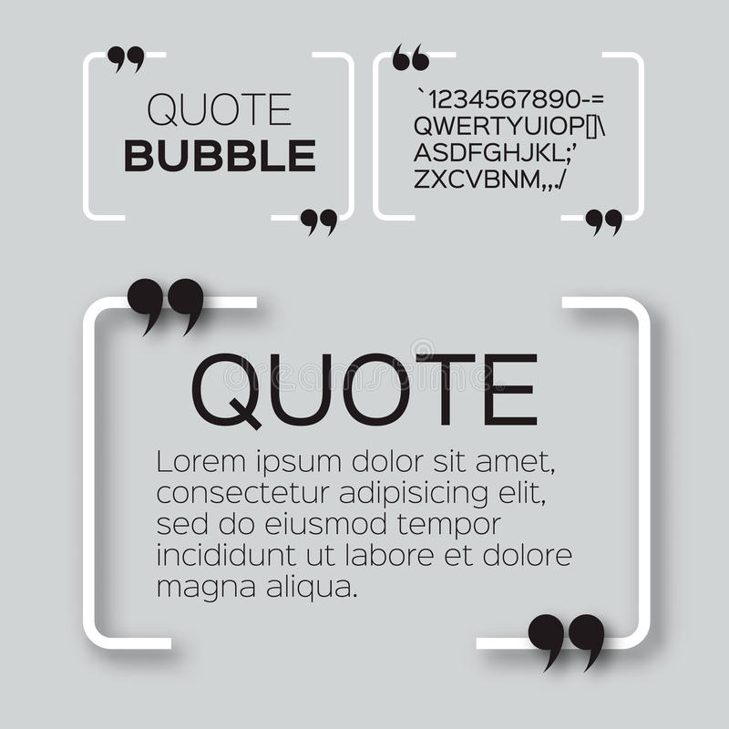 Quote bubble. royalty free illustration