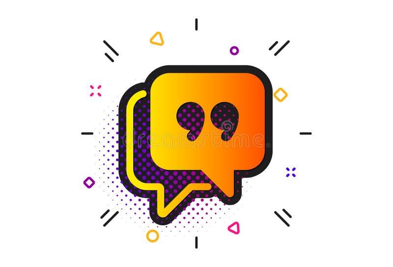 Quote bubble icon. Chat comment sign. Speech bubble. Vector vector illustration