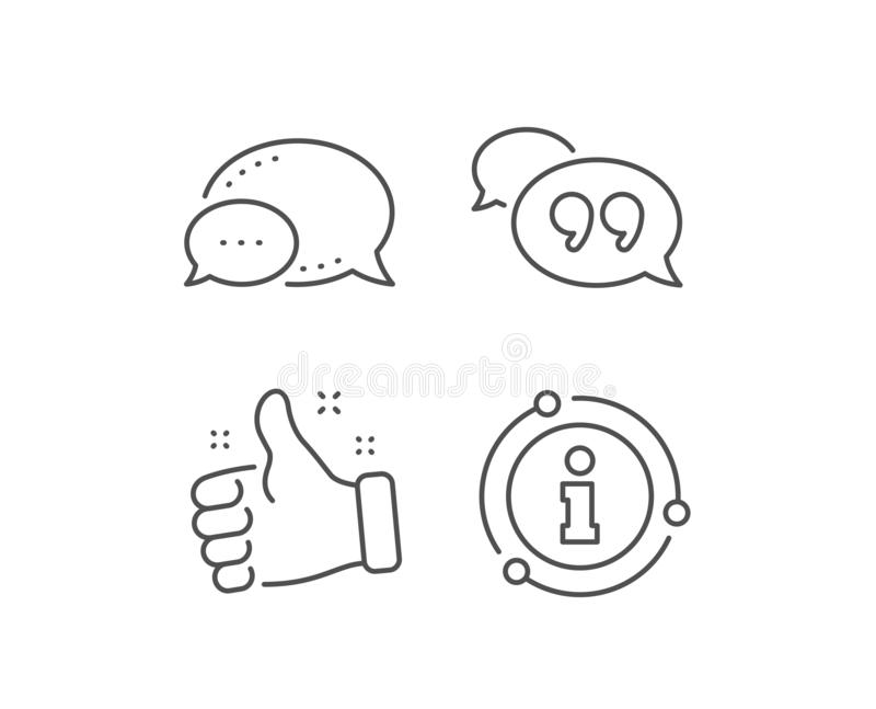 Quote bubble line icon. Chat comment sign. Speech bubble. Vector vector illustration