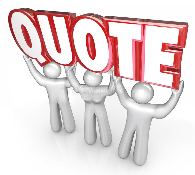 Price Quote: Quote 3d Letters Word Lifted Sales People Request For