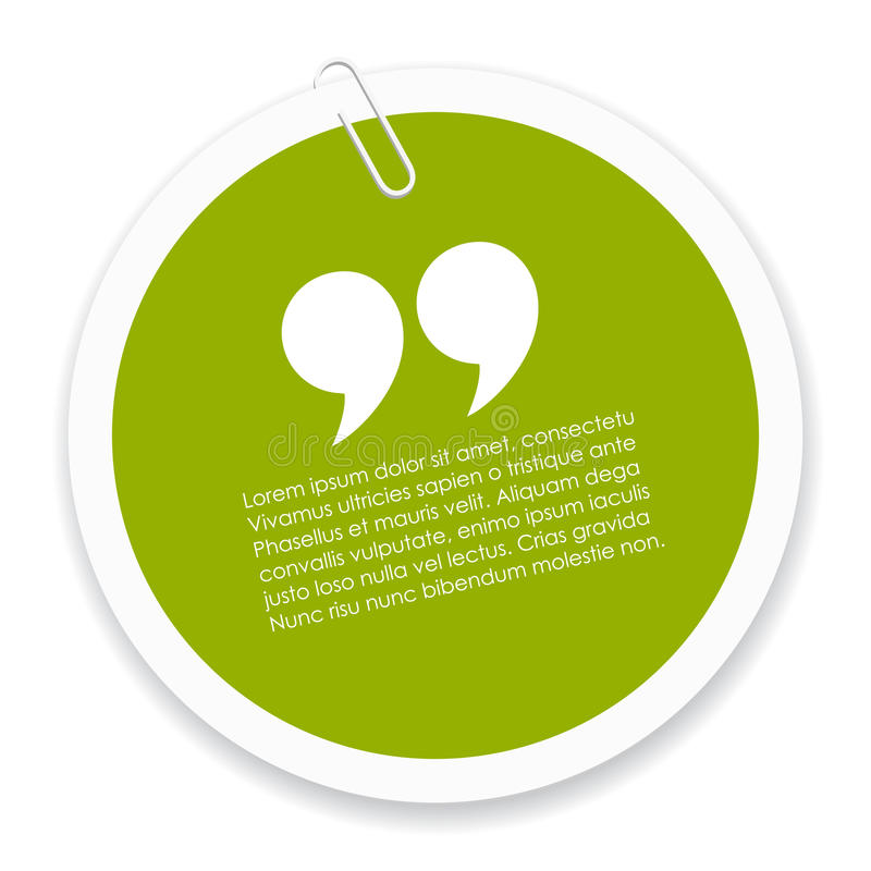 Quote icon. On white background vector illustration