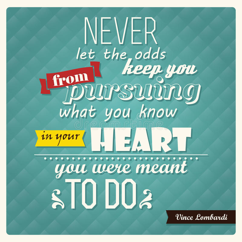 Quote, inspirational poster, typographical design, vector illustration vector illustration