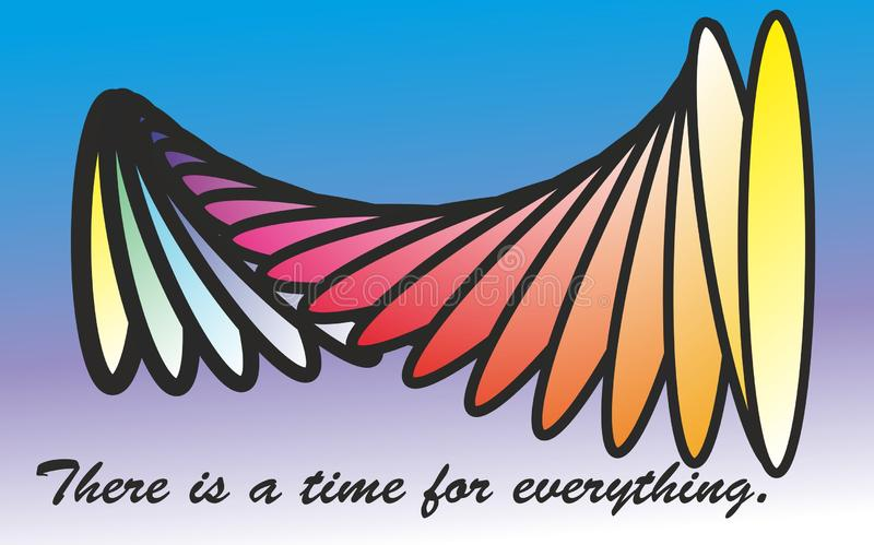 Quote of life, There is a time for everything, Vetor file, Easy to edtable text royalty free illustration