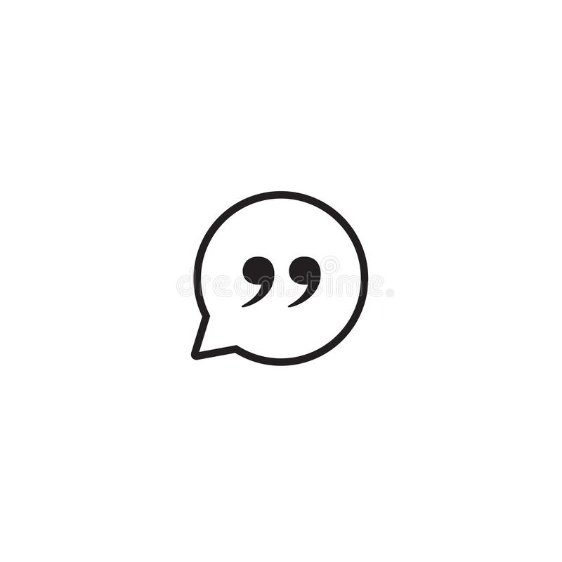 Quote Mark Icon Symbol Vector royalty free illustration
