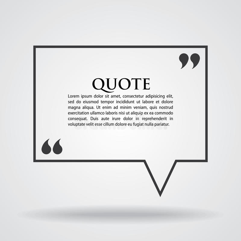 Quote Marks Blank Template Card royalty free illustration