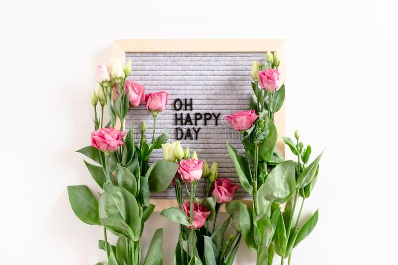 Quote Oh happy day royalty free stock image