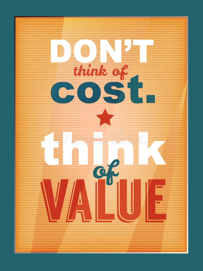 Quote poster stock illustration
