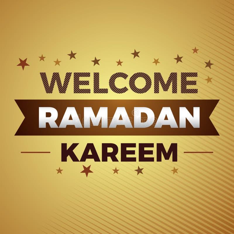 Quote Religion welcome ramadan kareem islamic banner. Quote Religion islamic banner ramadan kareem gradient gold royalty free illustration